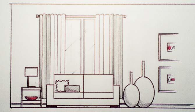 Un Canapé Devant Une Fenêtre Peut Régler Votre Problème De Panneaux Trop  Courts. Il Faut
