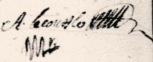 Signature de Aubin Lecouffle, le 28 novembre 1726. – Archives départementales de la Manche à Saint-Lô