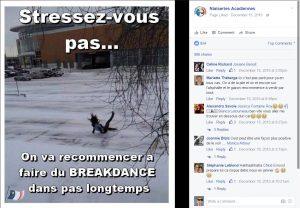 Le groupe Facebook Niaiseries acadiennes récolte 102 nouveaux membres par semaine, en moyenne. - Acadie Nouvelle : Capture d'écran