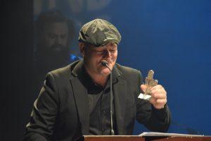 Danny Boudreau a reçu deux prix Musique NB jeudi. - Acadie Nouvelle: Sylvie Mousseau