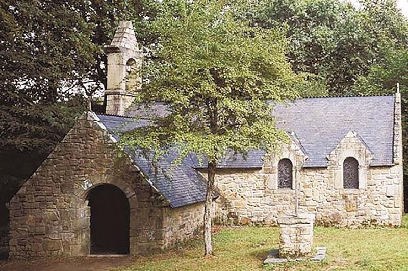 La chapelle de Saint-Méen à Bains, lieu du mariage des parents de Michel Saindon. - Gracieuseté