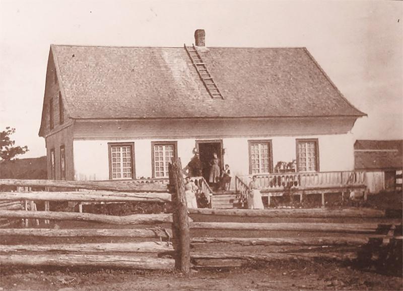 la maison de Michel Saindon, construite vers 1764, aurait été détruite au début du 20e siècle. - Gracieuseté (Ass. Sainson)
