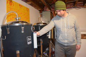 Jamie Melanson, de la microbrasserie Bore City Brewing, basée à Moncton. - Acadie Nouvelle: archives